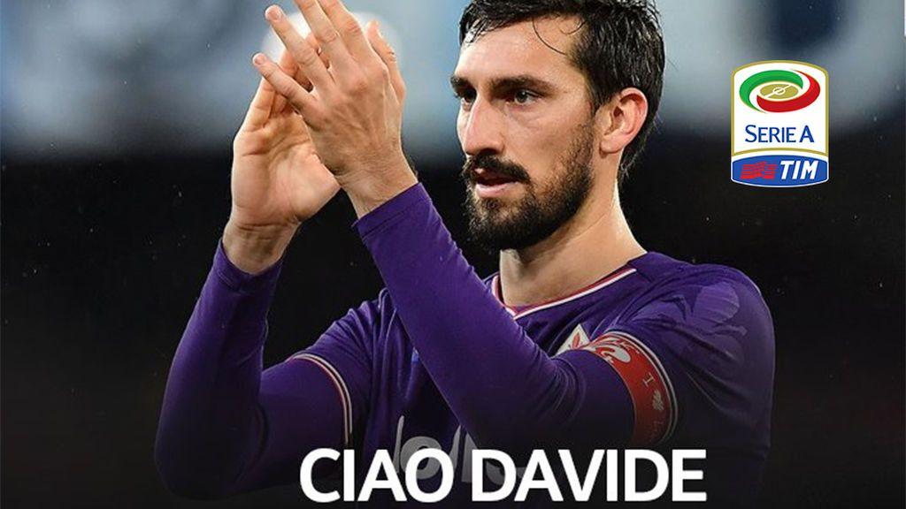 Suspendida toda la jornada de la Serie A tras la muerte de Davide Astori