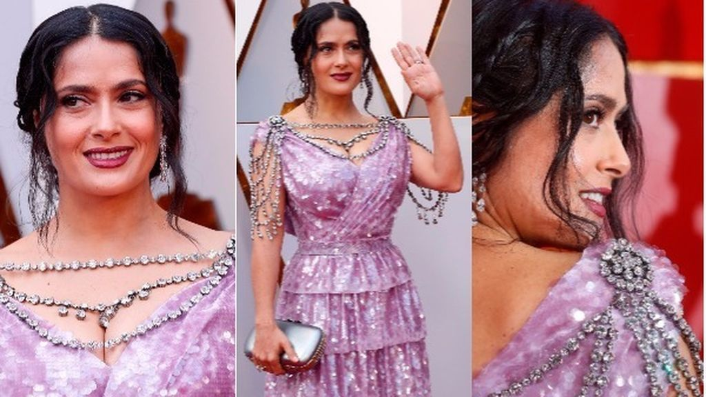 Oscars 2018: Twitter arde con el vestido de Salma Hayek