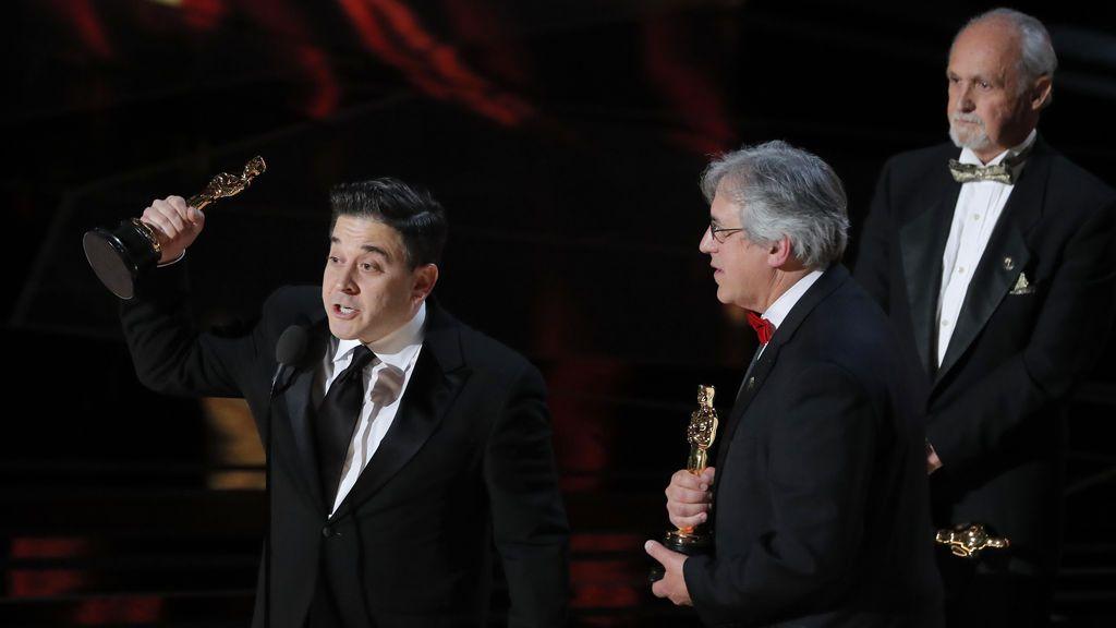 Mark Weingarten, Gregg Landaker y Gary A. Rizzo ganan el Oscar a mejor mezcla de sonido por 'Dunkerque'