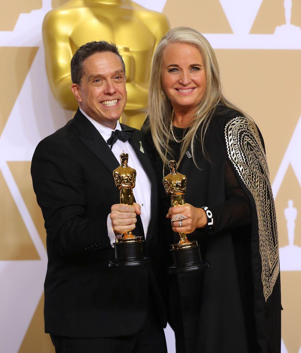 Lee Unkrich y Darla K. Anderson ganan el Oscar a la mejor película de animación por 'Coco'