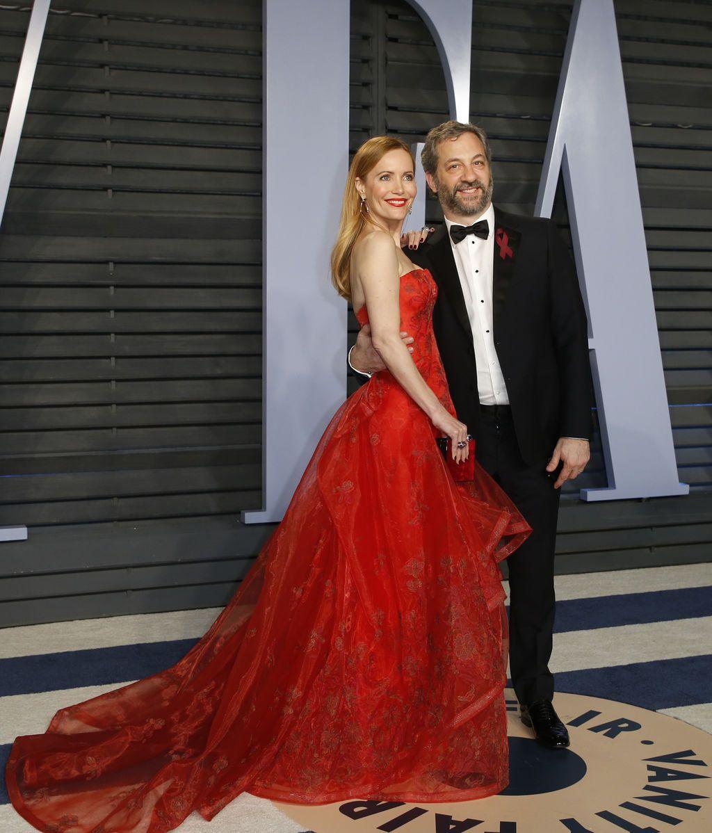 El director Judd Apatow y la actriz Leslie Mann