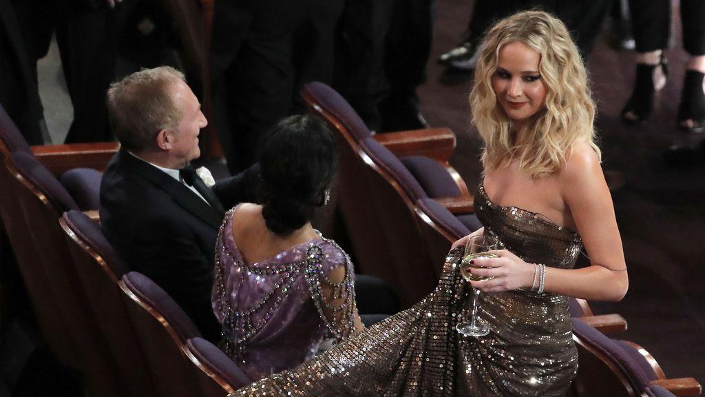Oscars 2018: Jennifer Lawrence y su copa de vino dan mucho que hablar