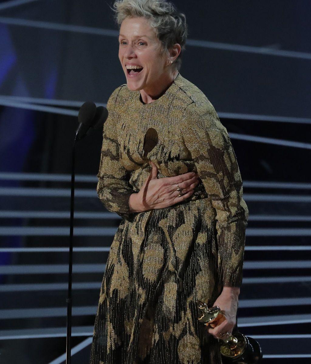 Frances McDormand gana el Oscar a la mejor actriz principal por su papel en 'Tres anuncios a las afueras'