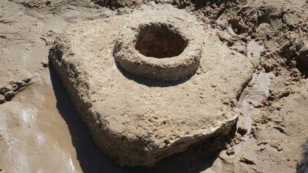 Los beneficios del temporal: una calzada romana y un acueducto de 200 años, resurgidos en Cádiz