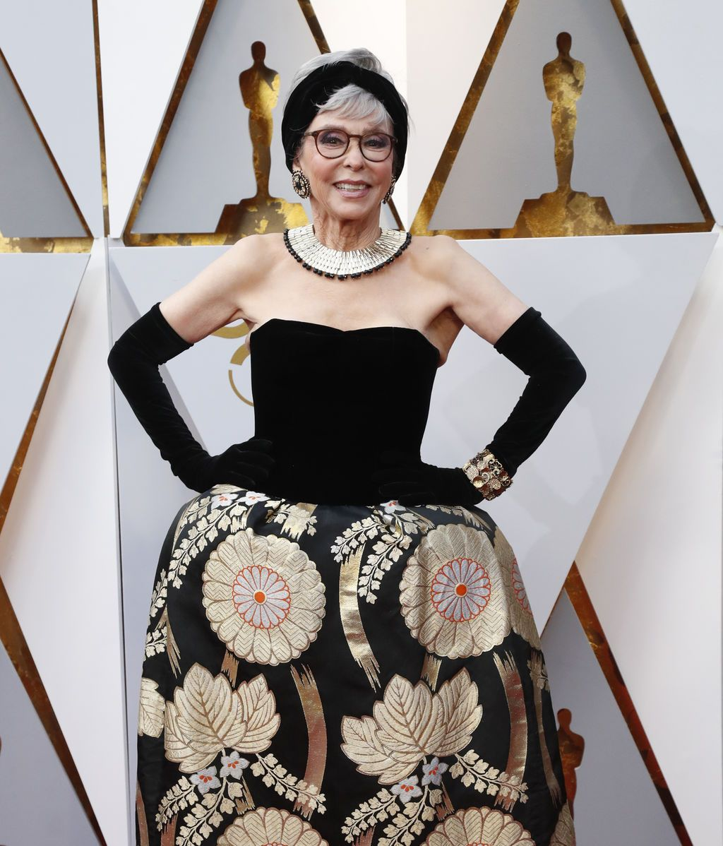 Rita Moreno, con el mismo traje que lució cuando ganó el Oscar por West Side Story