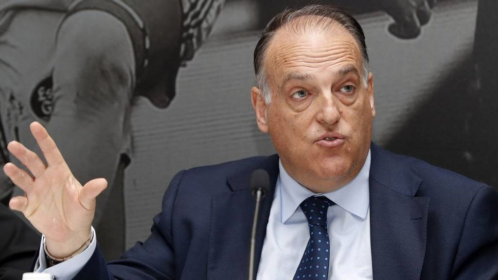 El presidente de La Liga, Javier Tebas.
