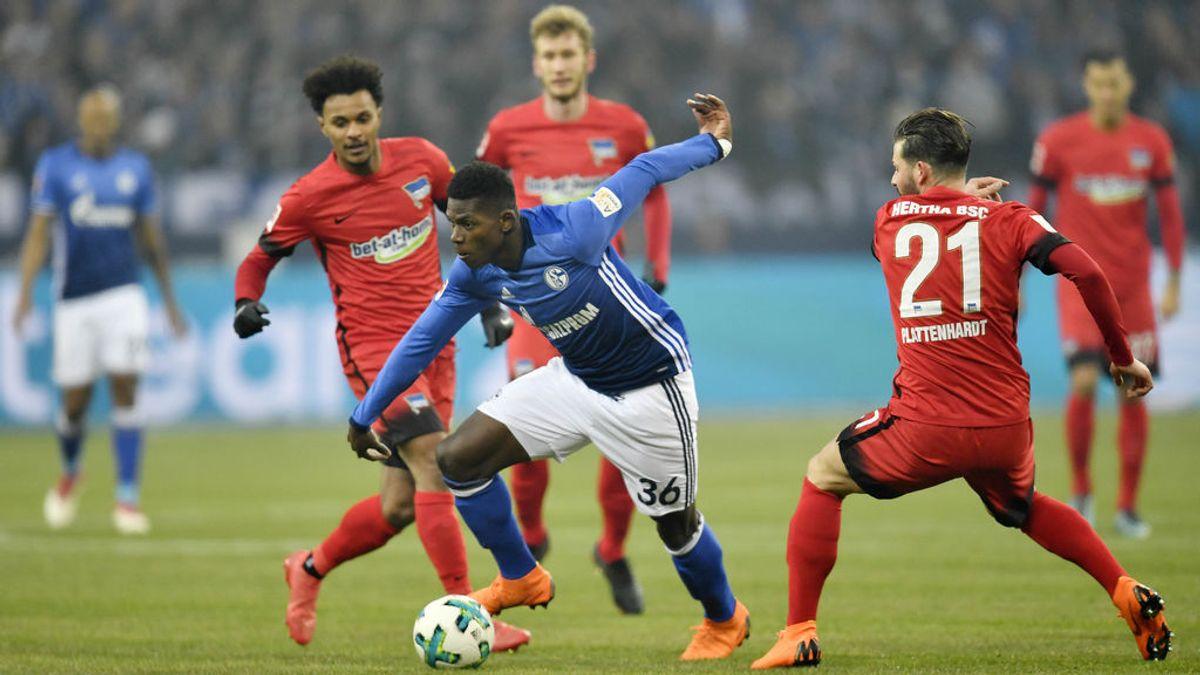 Lo nunca visto: la seguridad del Schalke 04 - Hertha Berlin expulsa a un hombre por masturbarse en la grada