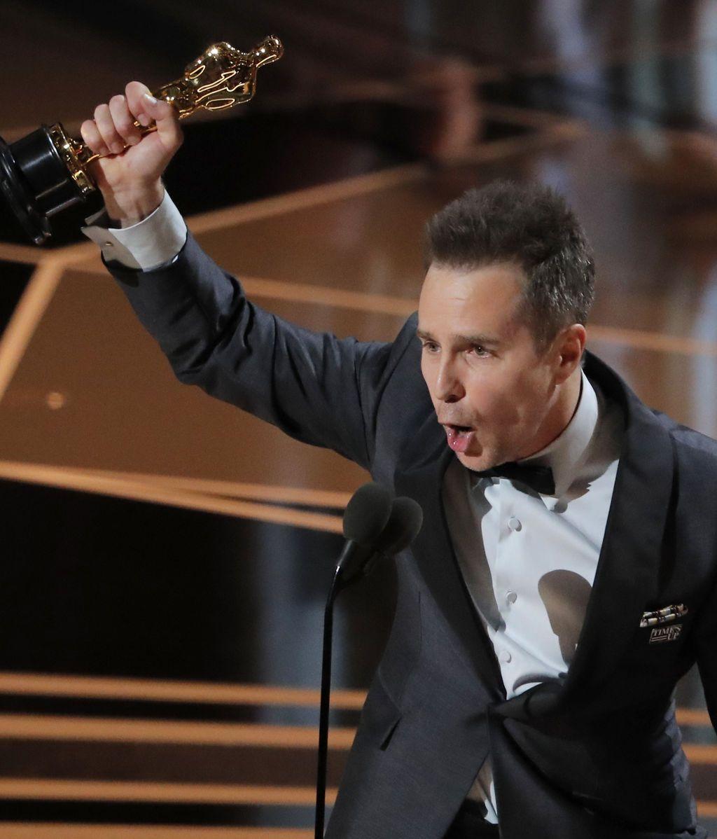 Sam Rockwell, ganador de la estatuilla a Mejor Actor de Reparto