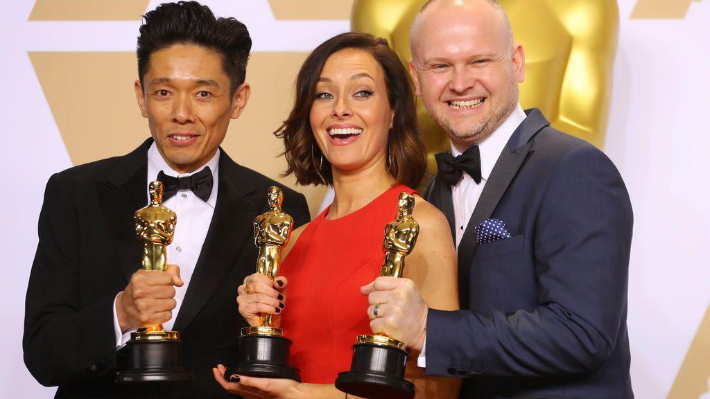 Kazuhiro Tsuji, Lucy Sibbick y David Malinowski ganan el Oscar al mejor maquillaje y peluquería por 'El instante más oscuro'