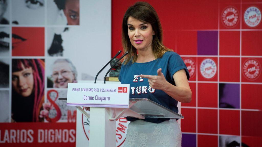 Carme Chaparro, recibe el Premio Feminismo PSOE