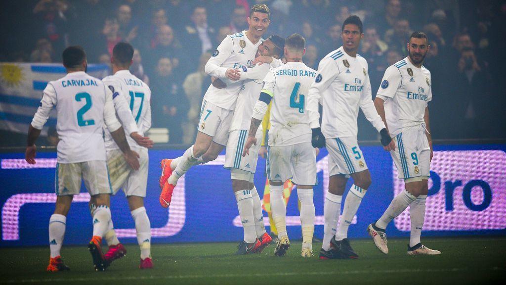 El Madrid baila al PSG de Emery en París (1-2) y se mete en cuartos de la Champions