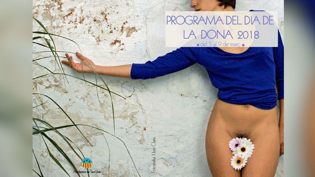 Polémica por el cartel del Día de la Mujer del Ayuntamiento de Sant Lluís, Menorca