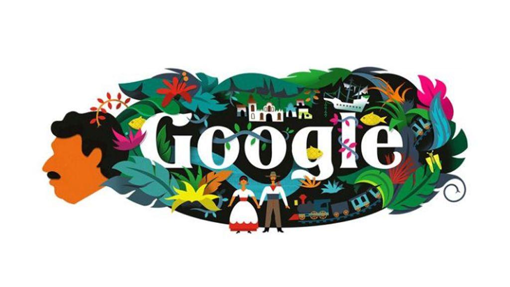 El doodle de Google recuerda el cumpleaños 91  de Gabriel García Márquez