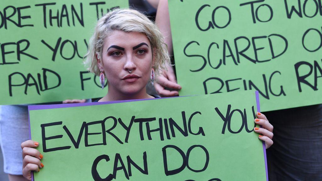 Manifestación en la ciudad australiana de Melbourne para conmemorar el Día Internacional de la Mujer