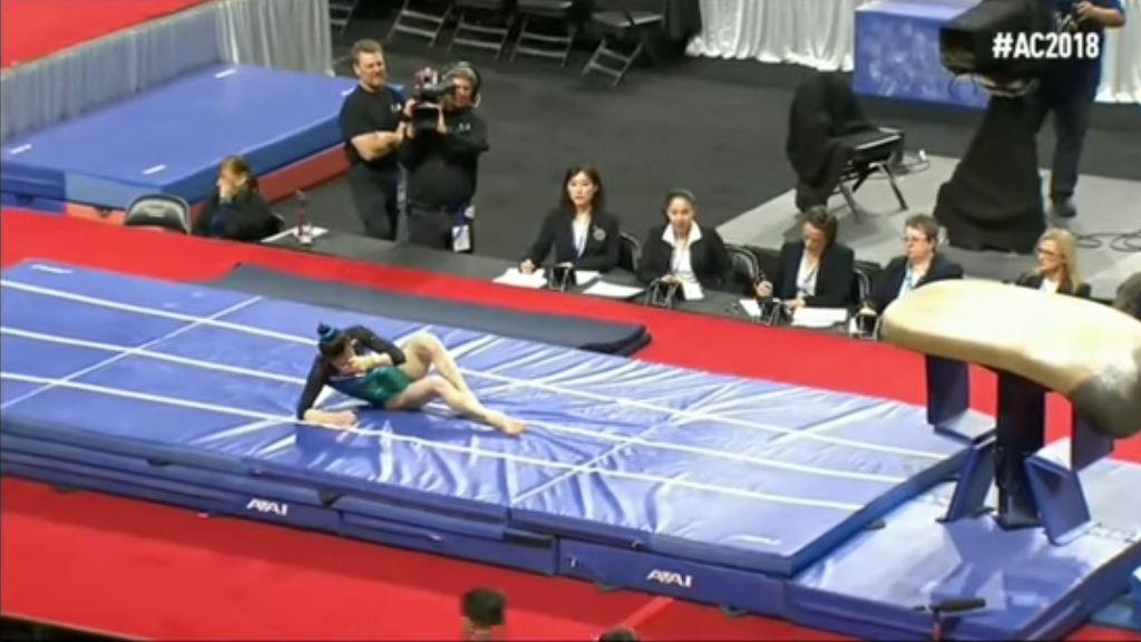 Una gimnasta se rompe el fémur al caer mal durante una competición en Estados Unidos