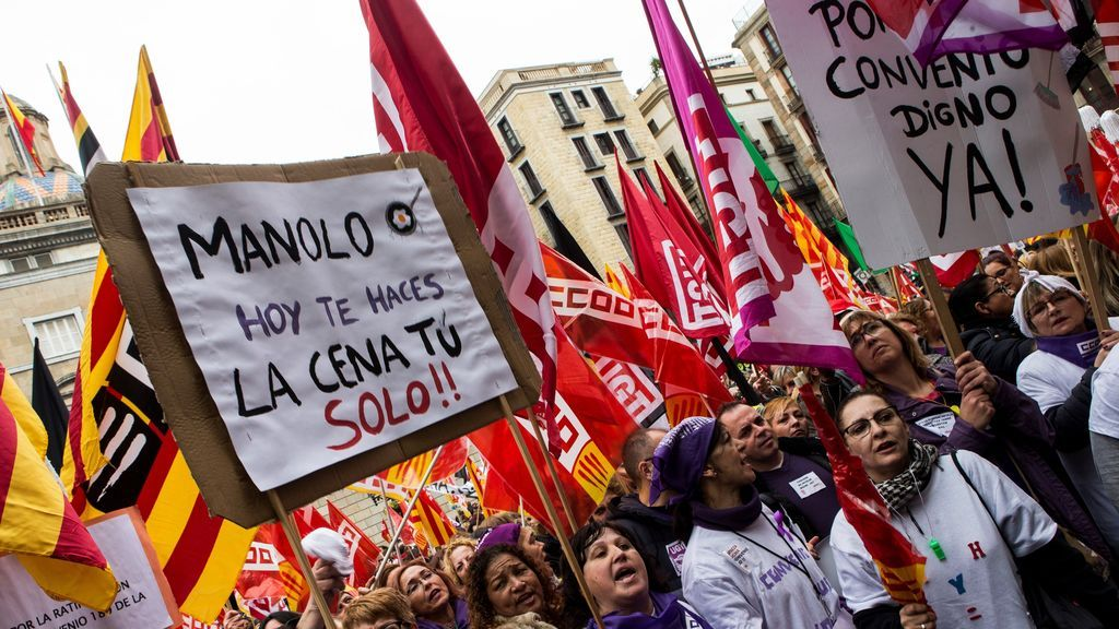 Los mensajes  más reivindicativos de la huelga feminista