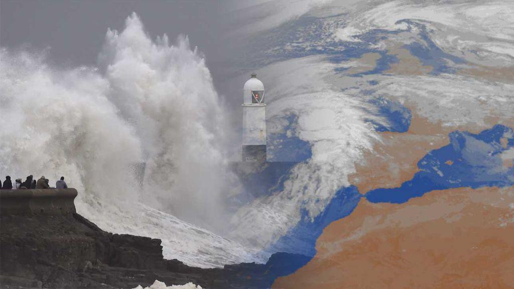 La borrasca 'Félix', a punto de llegar: traerá vientos huracanados y olas de 9 metros de altura