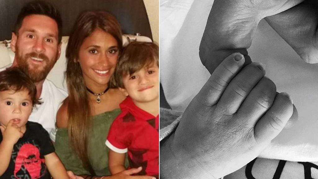 Nace Ciro, el tercer hijo de Messi y Antonella
