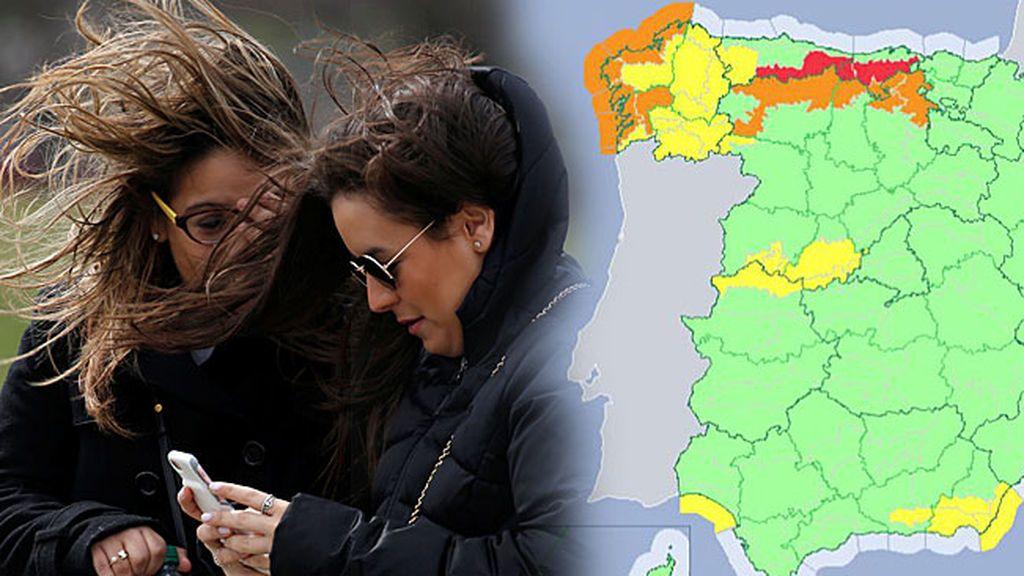 Aviso especial: alerta roja por temporal marítimo y vientos de 140 km/h