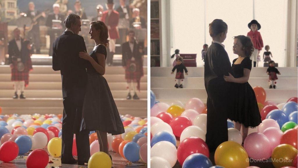 Una familia imita escenas de las películas nominadas a los Oscars