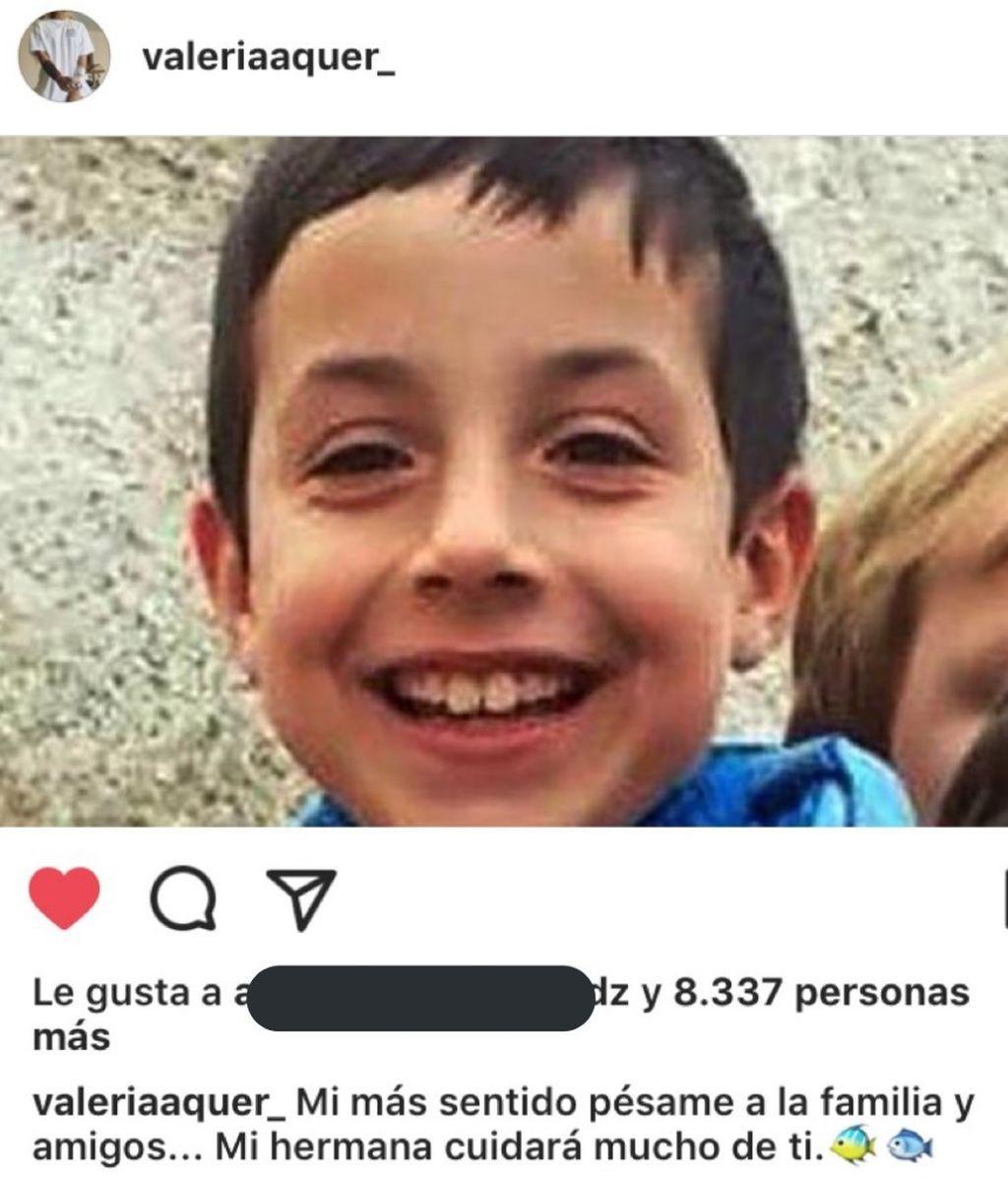 """Valeria Quer apoya a la familia de Gabriel Cruz: """"Mi hermana cuidará mucho de ti"""""""