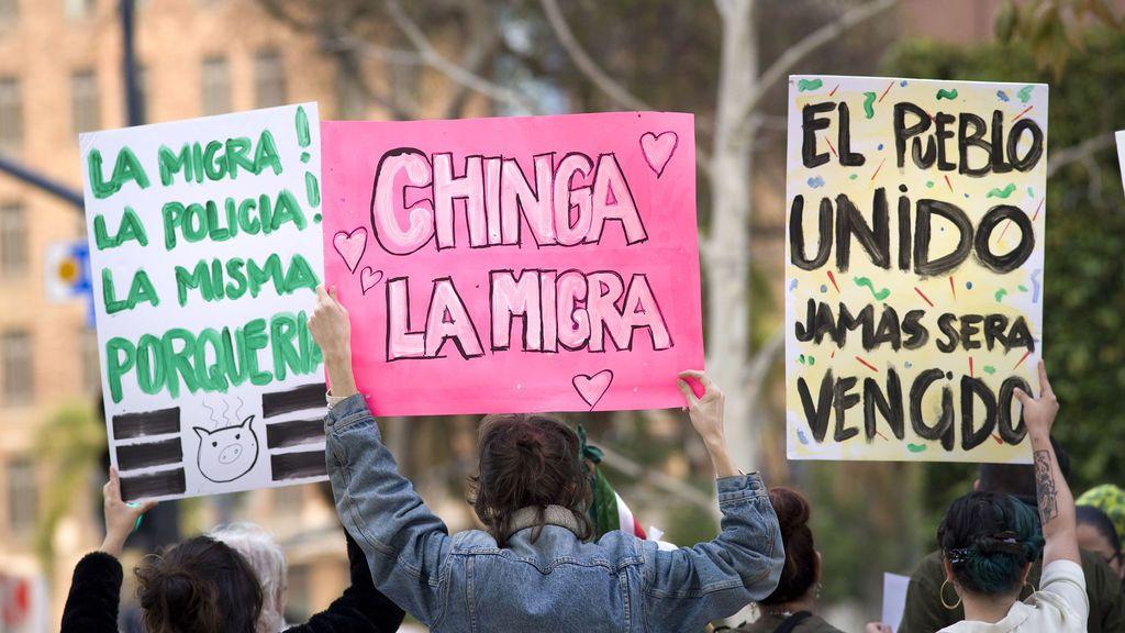 Manifestación en contra de Donald Trump