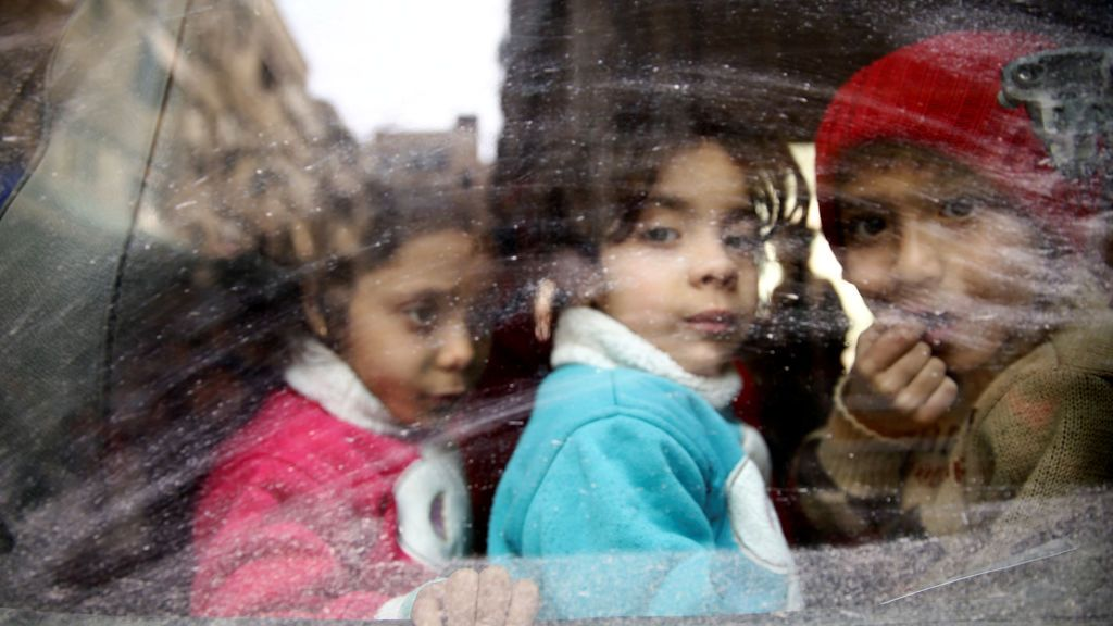 La mirada de los niños en una evacuación