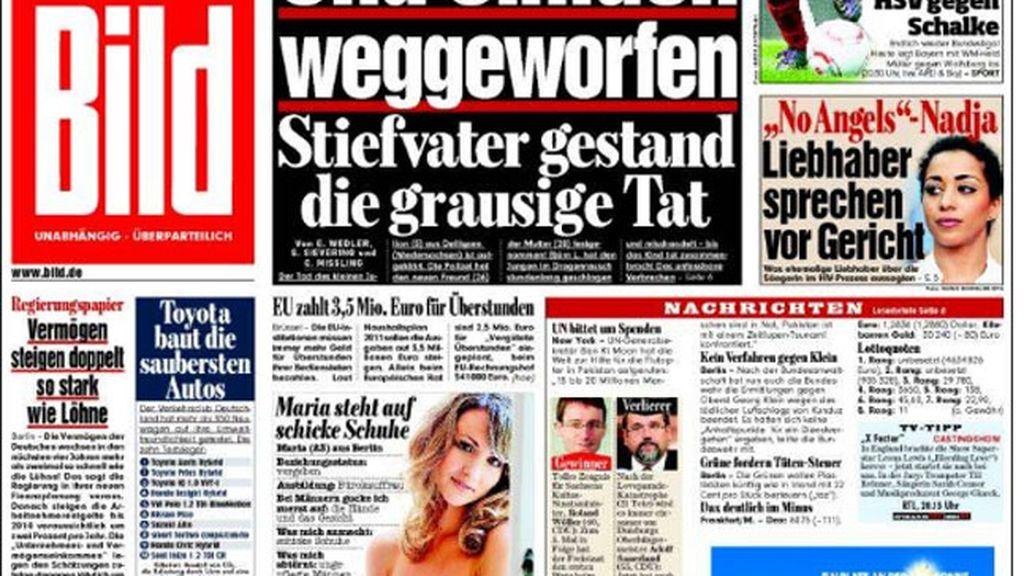 El diario alemán 'Bild' dejará de publicar imágenes de mujeres en topless