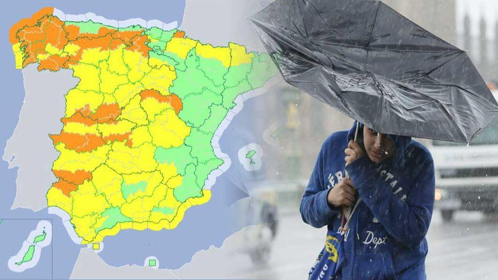 Rachas de más de 100 km/h, lluvias y mar embravecido: casi 40 provincias, en riesgo por Gisele