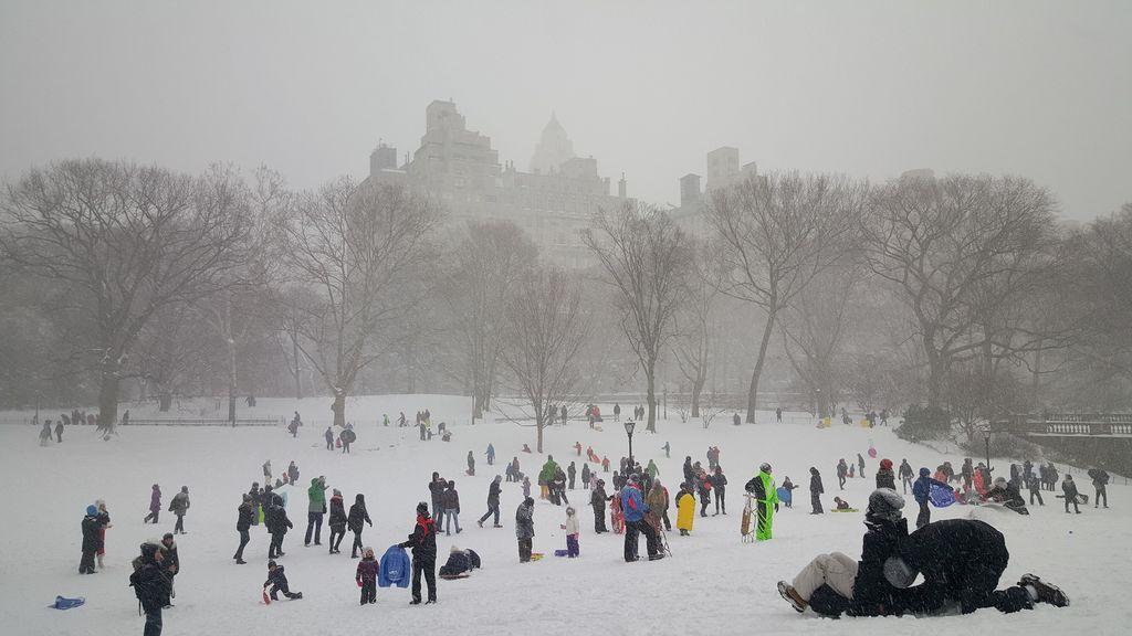 Foto de archivo: Central Park (EEUU) nevado
