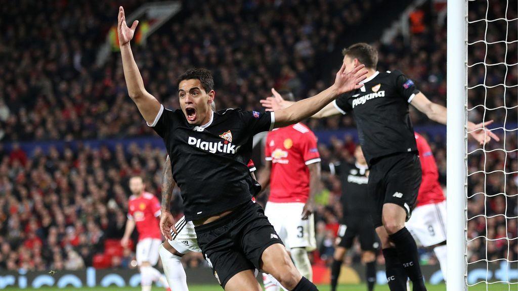 El Sevilla echa al United de Mourinho de la Champions (1-2) y se mete en cuartos 60 años después