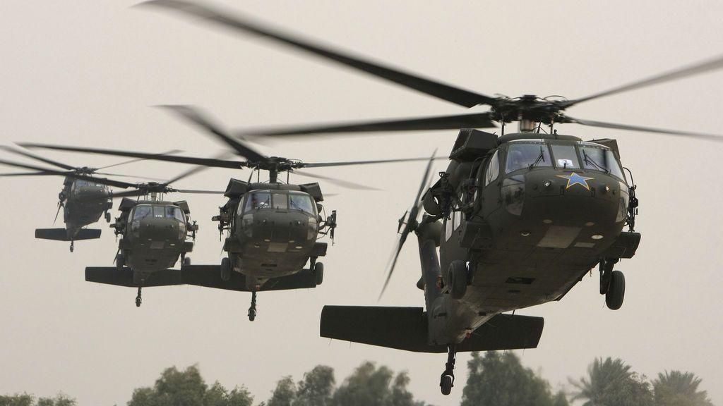 Un helicóptero militar de EEUU se estrella en el oeste de Irak con siete tripulantes a bordo