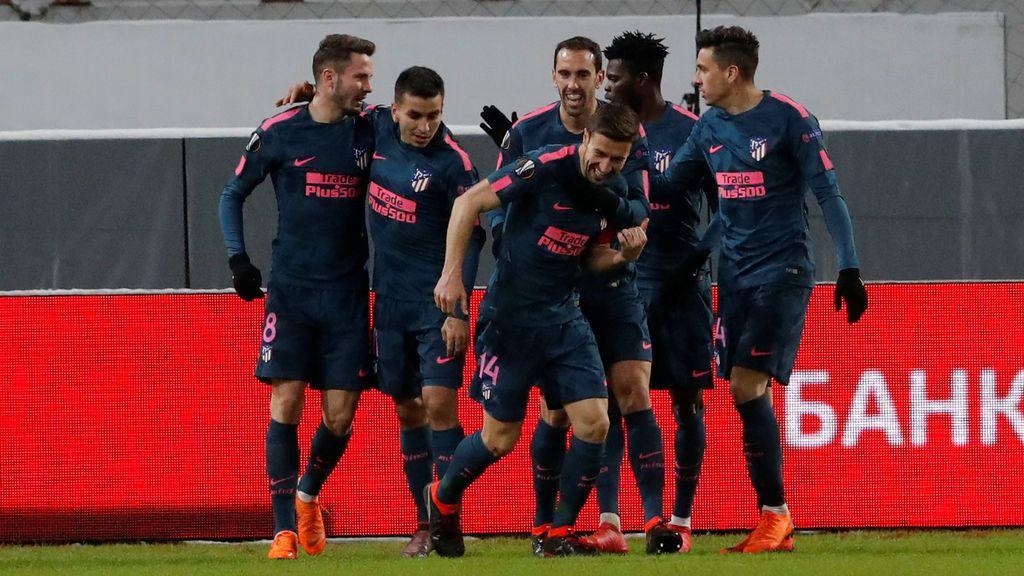 Crónica del Lokomotiv Moscú - Atlético de Madrid, 1-5