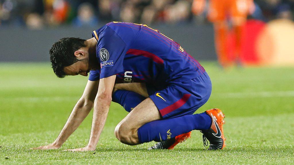 Sergio Busquets sufre una fractura en el pie derecho que le tendrá tres semanas de baja