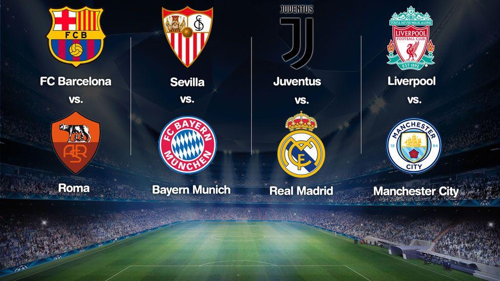 Sorteo Champions League cuartos: Juve-Real Madrid, Barça-Roma ...
