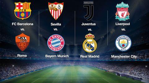 Sorteo Champions League cuartos: Juve-Real Madrid, Barça ...