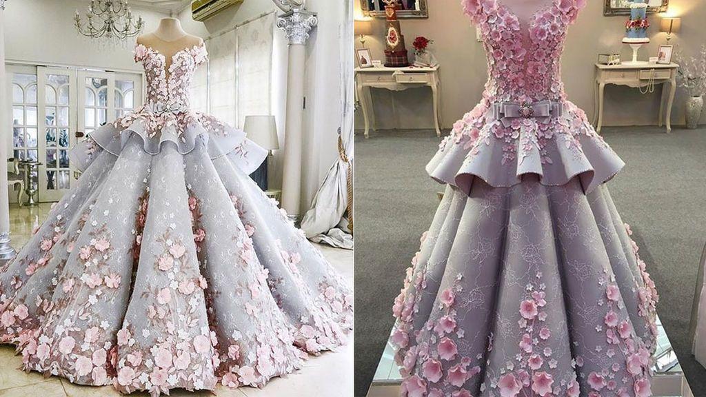 Un vestido de boda…¡qué es un pastel!