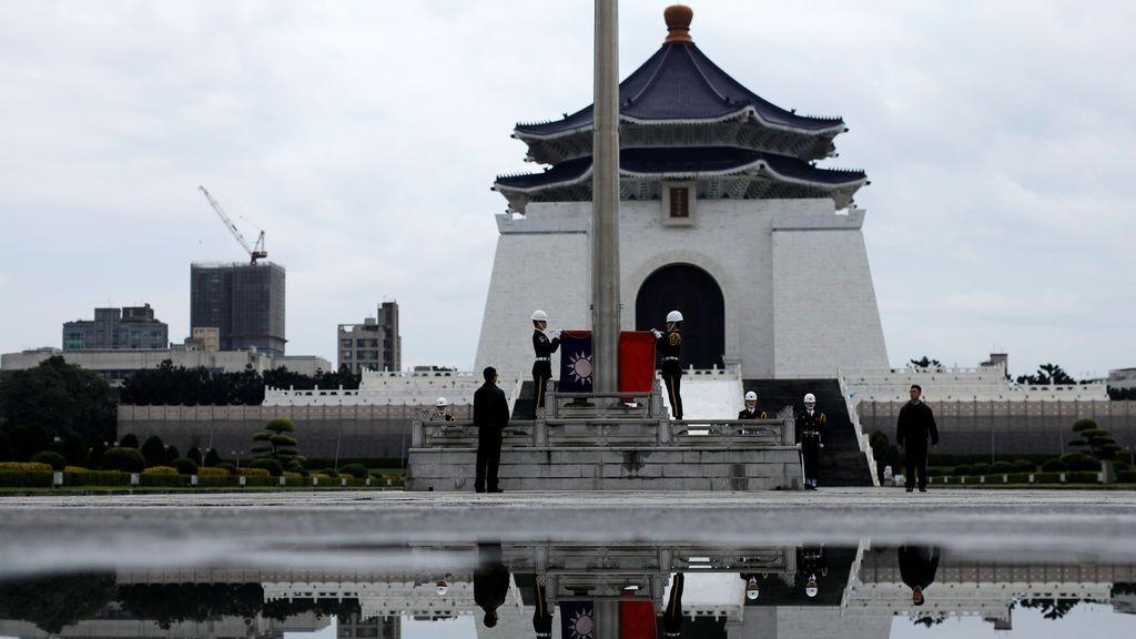 Izado de bandera en Taiwán