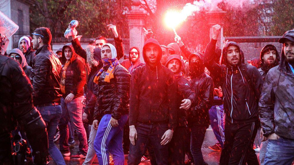 Quedan en libertad los tres ultras del Olympique detenidos en San Mamés