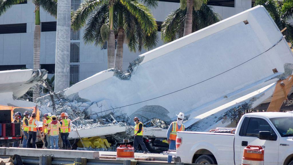 Un ingeniero del puente de Florida informó sobre grietas días antes de derrumbarse