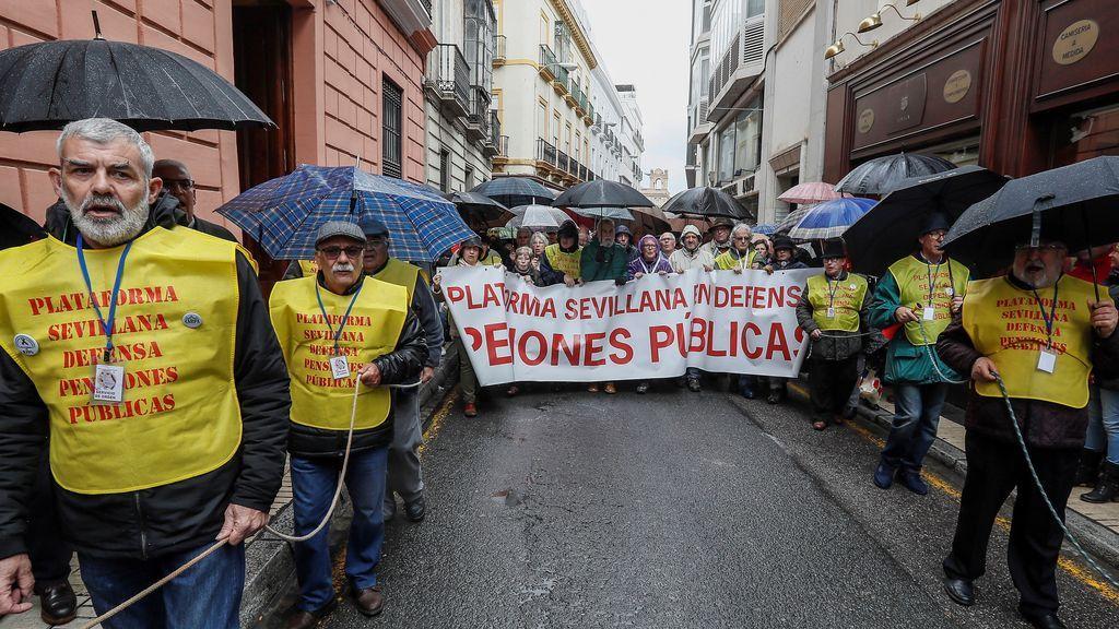 Manifestación de jubilados en Sevilla, por unas pensiones dignas