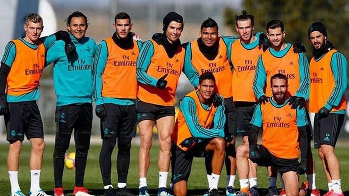 Cristiano publica la foto más divertida del entrenamiento del Real Madrid