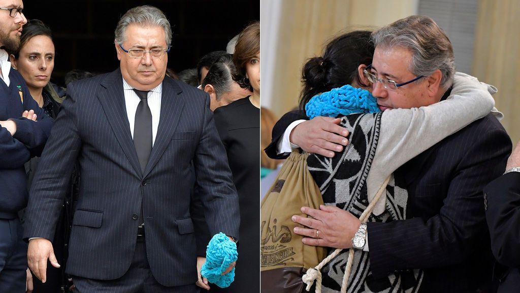El bonito gesto de Zoido tras recibir la bufanda de Gabriel