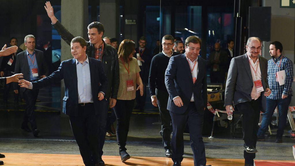 Los 'barones' del PSOE se reivindican frente al PP y piden confianza para gobernar