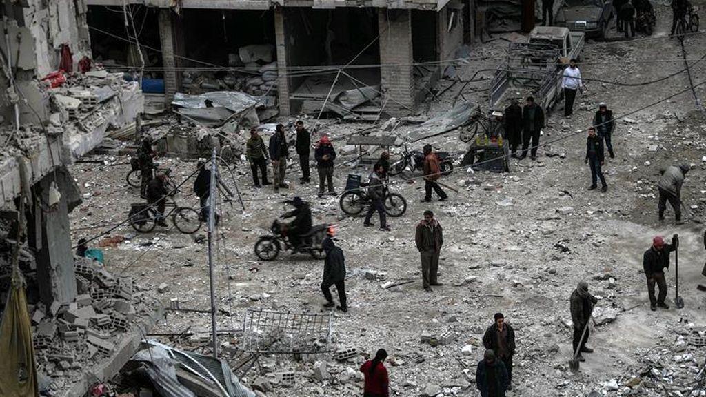 Más de 5.000 civiles sirios abandonan Ghuta Oriental