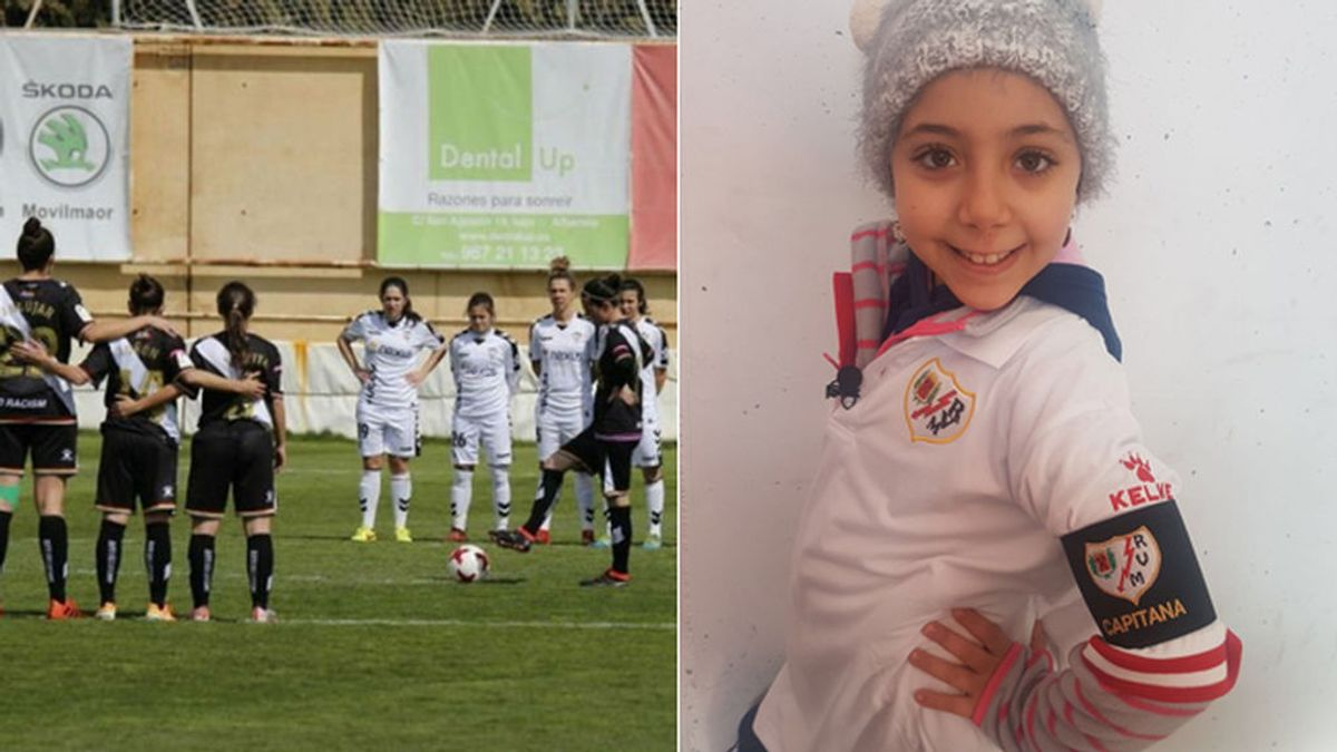Indignación en el fútbol femenino al no respetar una árbitro el minuto de silencio por Nayara, fan de 9 años del Rayo fallecida la pasada semana