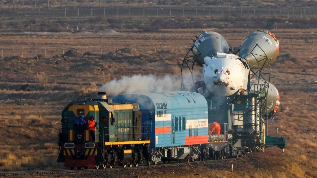 La nave espacial Soyuz MS-08