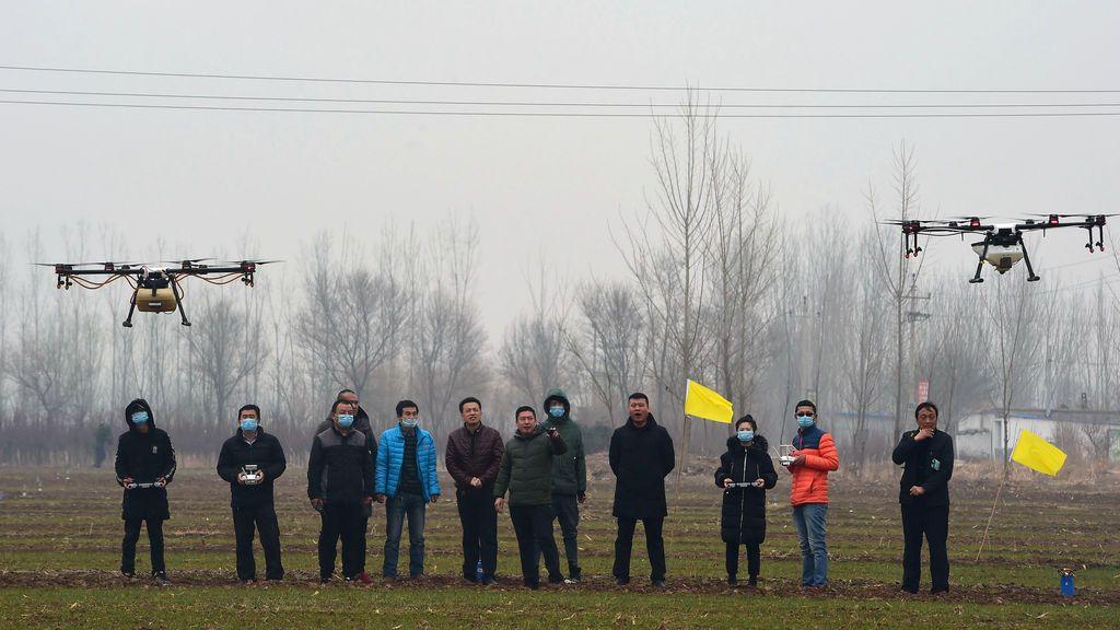 Drones en un centro de entrenamiento