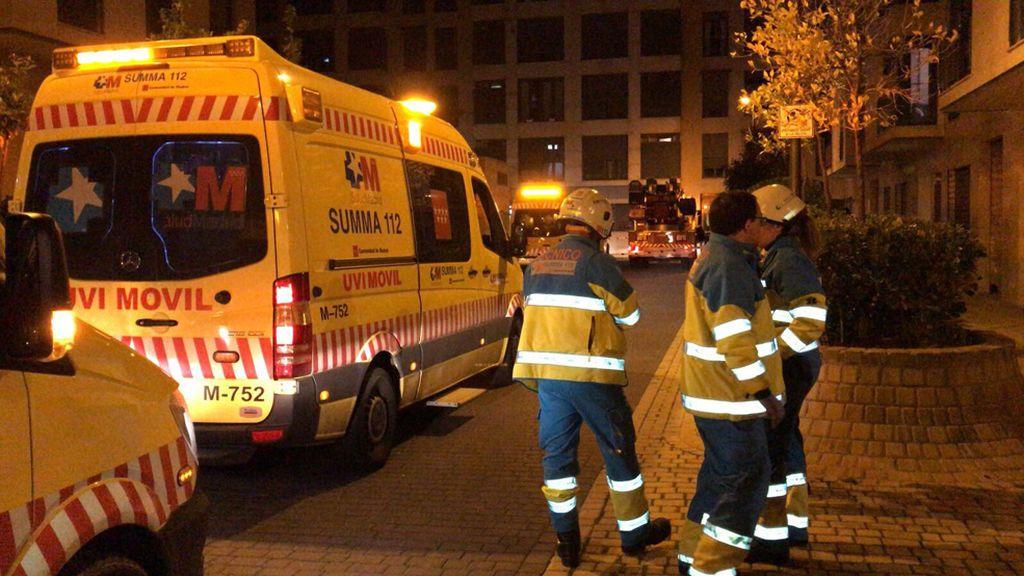 Dos niños mueren en un incendio en Getafe y su padre fallece atropellado por un tren poco después