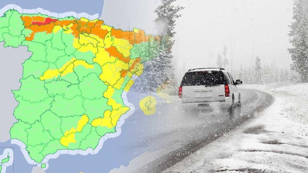 37 provincias en aviso por nieve y lluvia dan la bienvenida a la primavera: 164 carreteras afectadas y 17 puertos cerrados